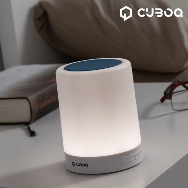 Zvočnik Bluetooth z LED lučjo CuboQ Mood Light