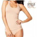 Booby & Tummy Shaping T Shirt with Bra
